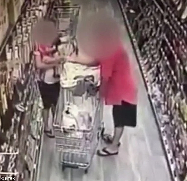 Man Brazenly Grabs Baby Girl From Shopping Cart When Mom Looked Away For Just A SECOND (Video)
