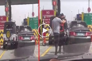 Kalma lang mga brad: Angry Pinoy drivers get into intense road rage incident at toll gate