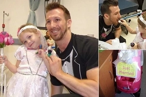 A 4-year-old leukemia patient 'married' her favorite nurse (photos, video)