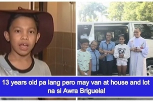 Bunga ng sipag at talent! Awra Briguela is a proud owner of a van, house and lot at the age of 13