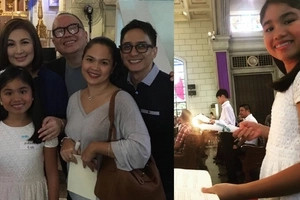 Para kay bff Juday! Megastar Sharon Cuneta attends Yohan Agoncillo's confirmation in Catholic Church