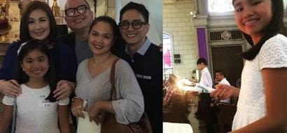 Para kay bff Juday! Megastar Sharon Cuneta attends Yohan Agoncillo's confirmation in Catholic Church
