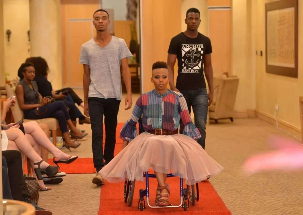Lebohang is Africa's first runway model on a wheelchair. Photo: She Leads Africa
