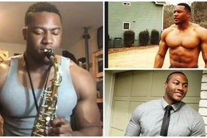 See saxophonist who is winning hearts and minds of THOUSANDS on social media (photos, videos)