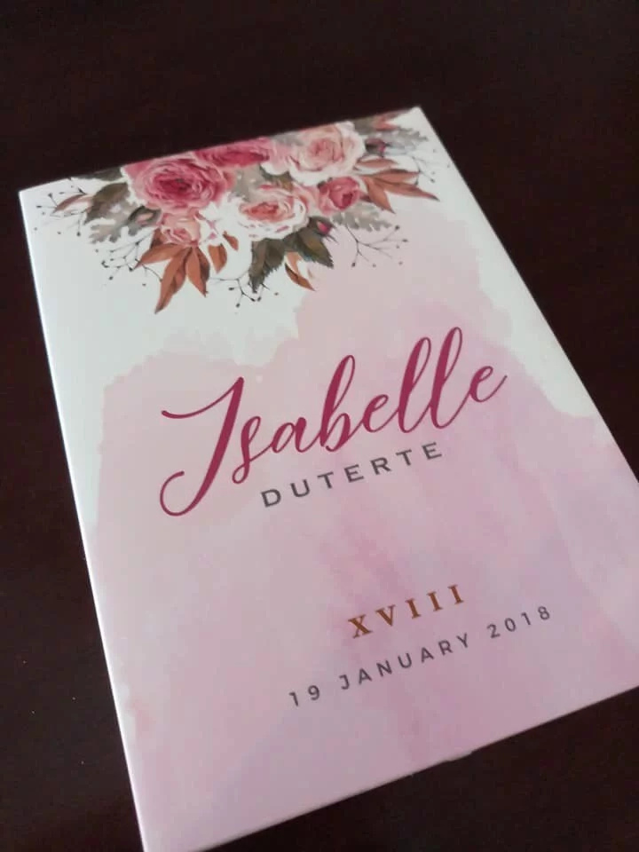isabelle duterte's debut invitation is a symbol of luxury