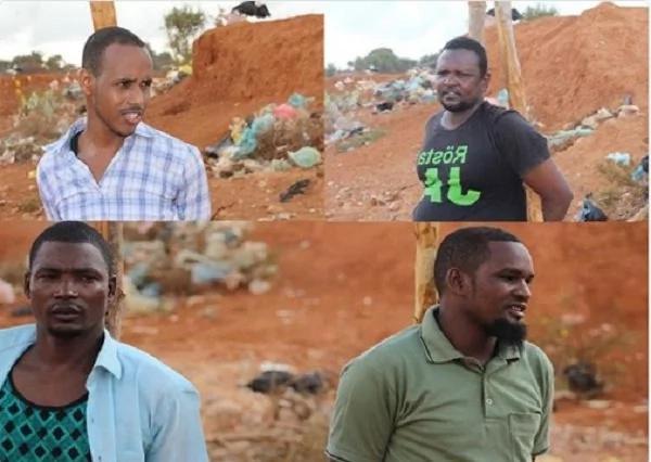 Photos of 4 al-Shabaab militants killed by firing squad
