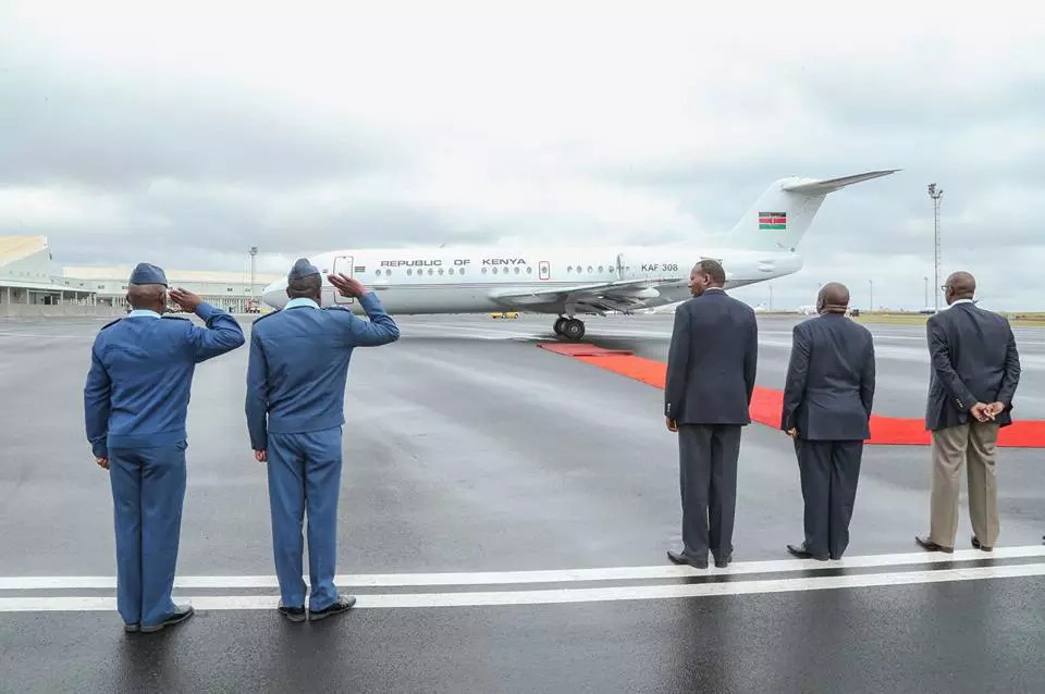 Uhuru leaves the country for visits to France and Germany