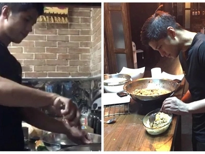 Ready na to be a daddy! Aljur Abrenica takes the time to cook a healthy dish for Kylie Padilla and their son