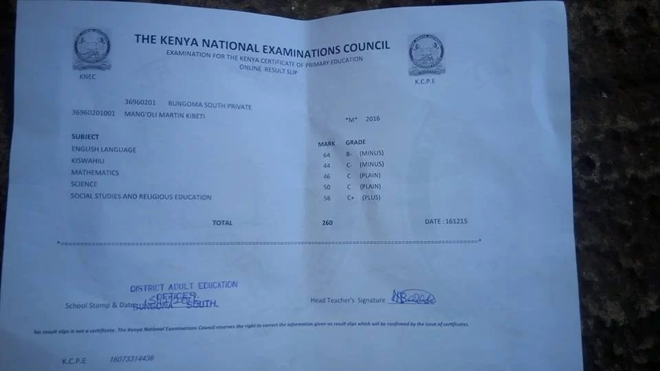 50-year-old KCPE candidate needs help to join form one