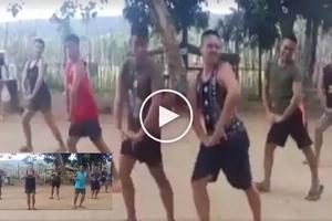 Ang galing ng kasundaluhan! Netizen captures funny Pinoy soldier's dance number