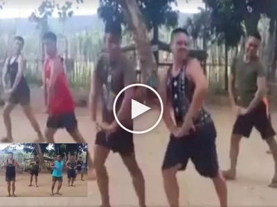 Wow! Netizen captures funny Pinoy soldier's dance number