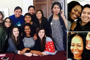Best first lady! Michelle Obama drops everything to spend day with native students (photos, video)