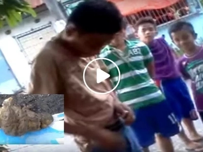 For P20 this young Pinoy touched a dog's poop...what happened next will make you laugh!