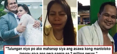 Lalaki, ba't mo tinangay P2 milyon ng asawa mo? Woman turns to netizens to locate cheating husband who took all her savings