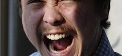 Baron Geisler gets punched, screams: