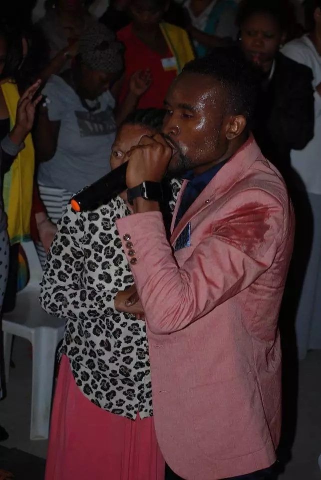 Prophet in South Africa claims he healed a woman, and she can now WALK again (photos