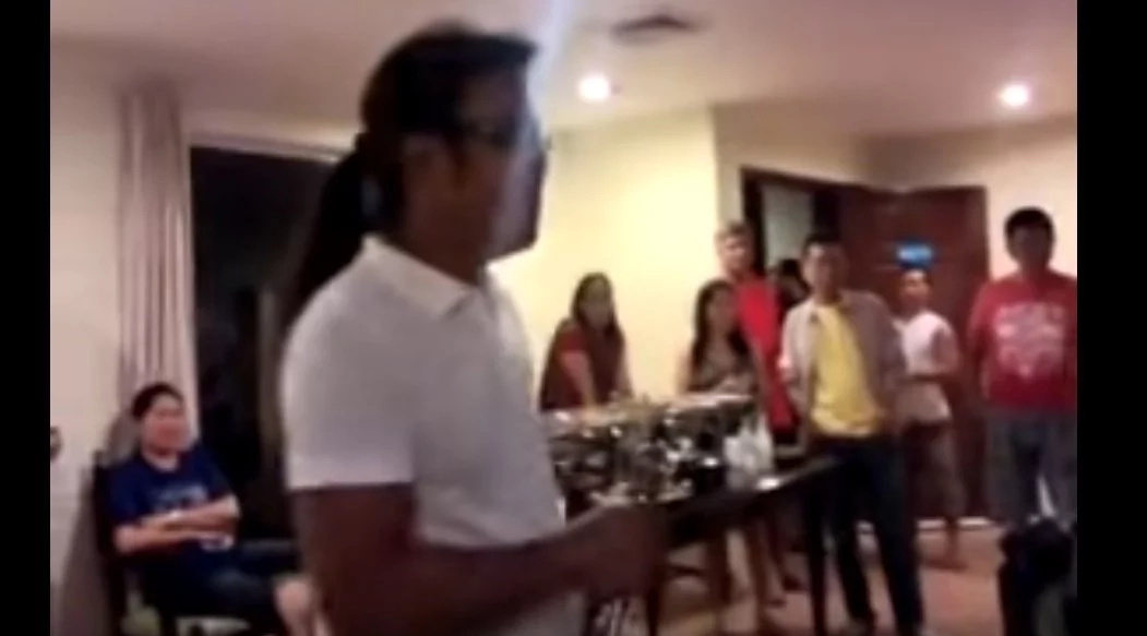 This man grabbed the microphone to sing...what he did shocked everyone!