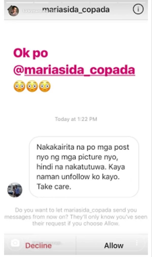 Luis Manzano posts reply to netizen who unfollowed him