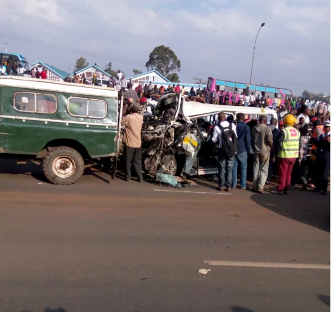 Several dead, many injured in grisly three-car accident on Thika Road
