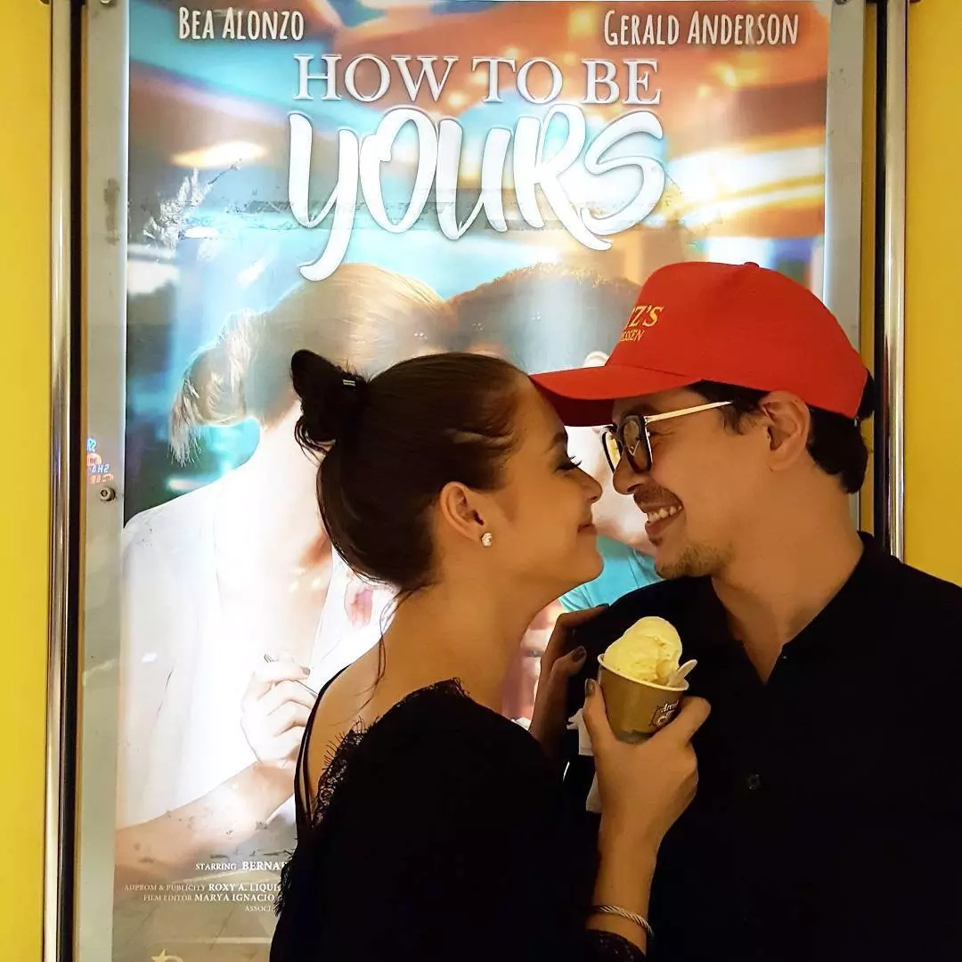 John Lloyd Cruz, Maja Salvador watch 'How To Be Yours'