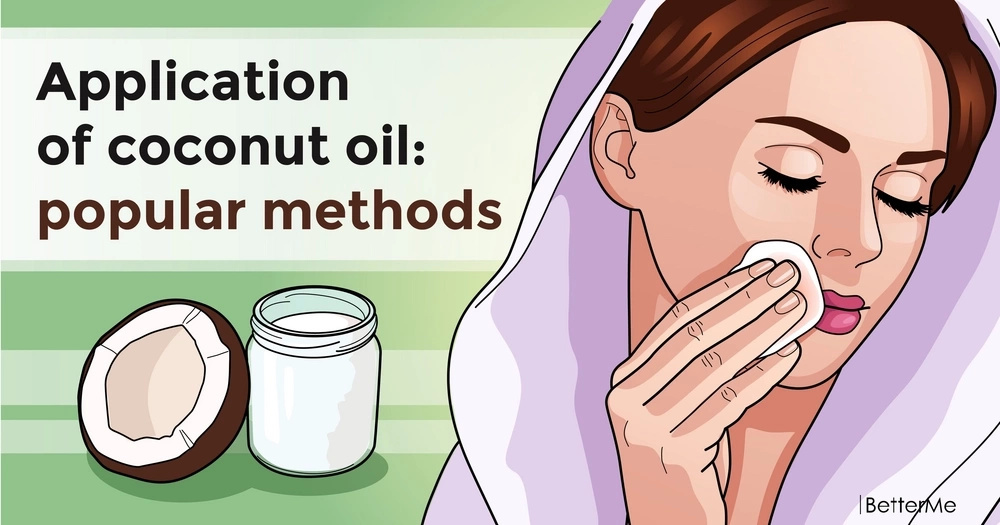 Application of coconut oil: popular methods