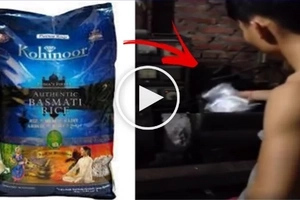 Beware: This workers are caught on video making fake rice. What it's made of will definitely disgust you!