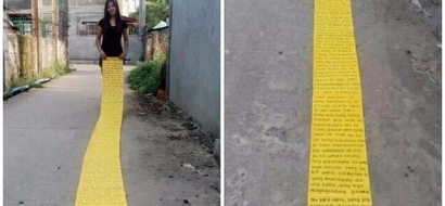Effort kung effort si ate! This netizen surprises her boyfriend with a very long written letter on their 3rd monthsary