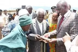 William Ruto rushed to his last harambee
