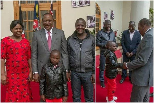 Mwanamuziki kutoka jamii ya Luhya akutana na Uhuru siku chache baada ya kuanguka jukwaani