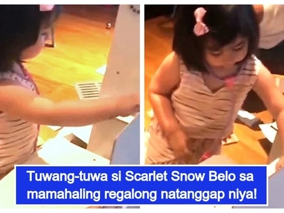 Ang swerteng bata! Scarlet Snow Belo receives a luxurious gift from an anonymous fan