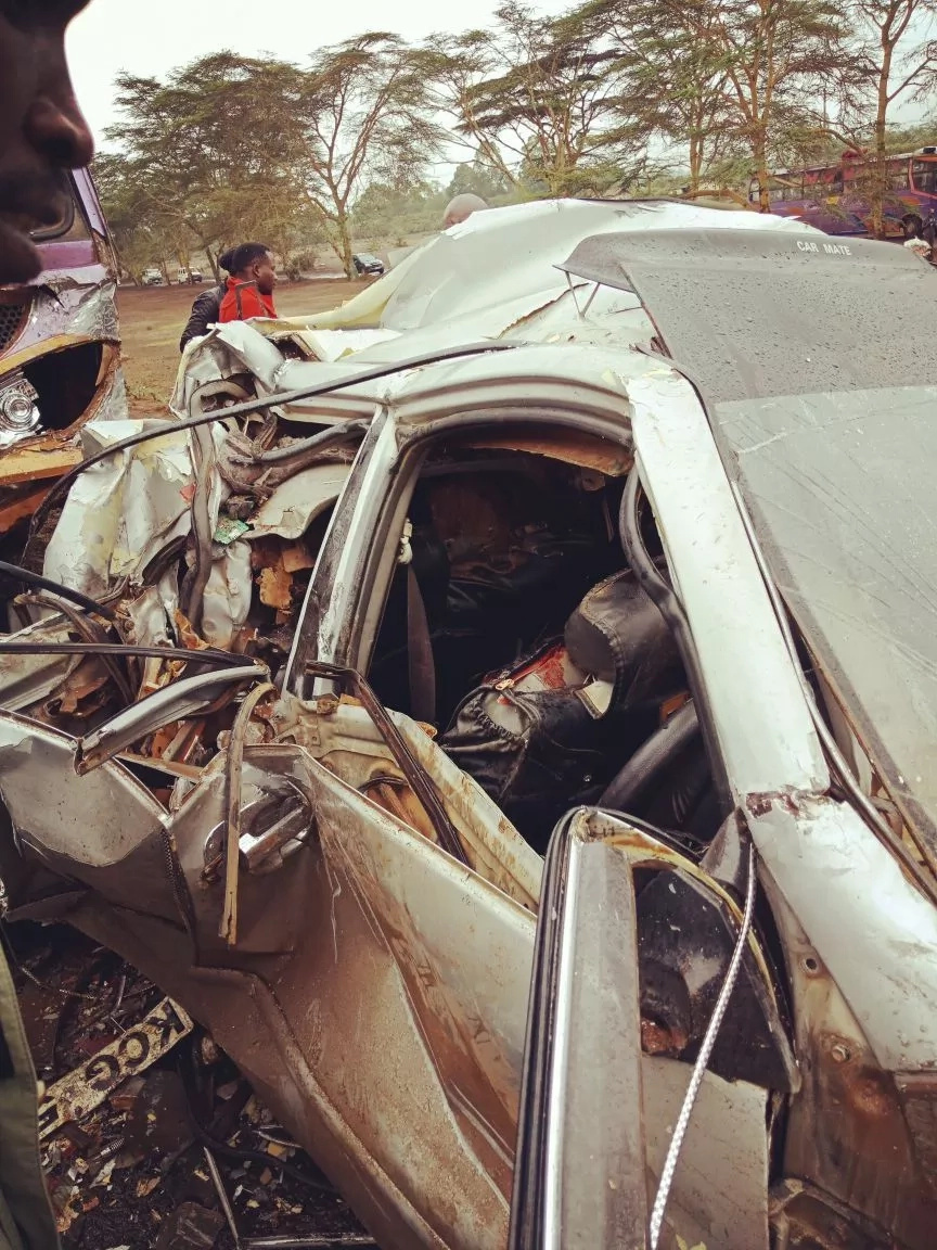 Laikipia MCA survives grisly road accident