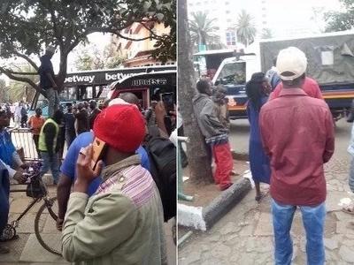 Jamaa mmoja ajitia kitanzi katikati mwa jiji ( Picha)