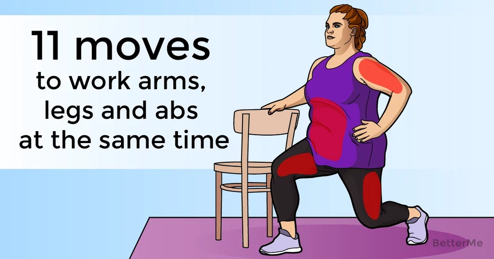 11 moves that work your arms, legs and abs at the same time