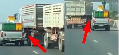 Reckless truck driver caused car crash