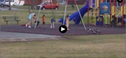 [VIDEO] People stop when patriotic music plays on; how the children react will fascinate you