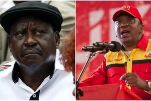 Social media on fire after Uhuru called Raila 'mad man'