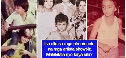 Bonggang cute throwback pictures ng mga sikat at nirerespetong mga artista kilalanin