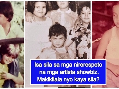 Bonggang cute throwback pictures ng mga sikat at nirerespetong mga artista kilalanin