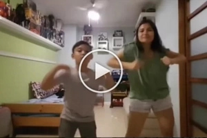 Camille Prats and her son do an adorable FettyWapChallenge dance cover
