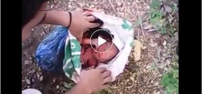 Galit na galit ako! Irresponsible parents abandon baby in a rice bag