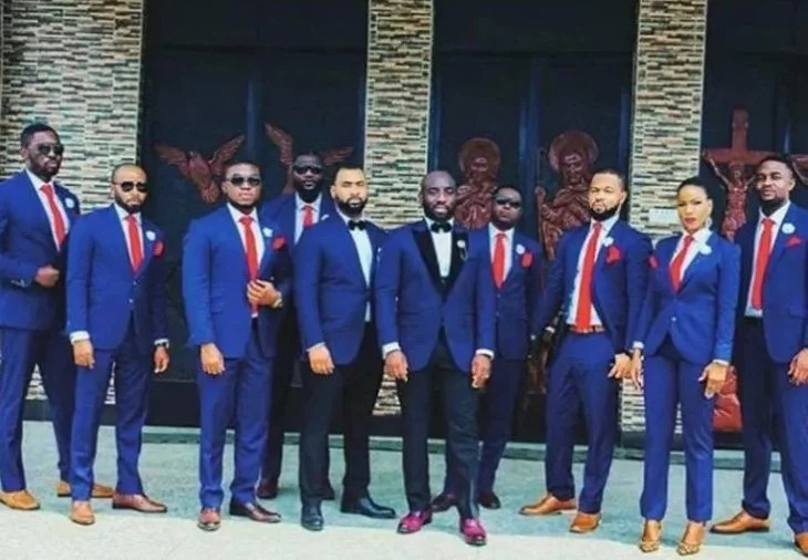 Amazing: Kenyan lady is first-ever female to be part of groomsmen at brother's wedding (photos)