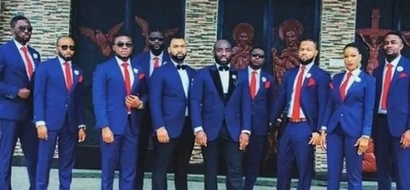 Amazing: This lady is first-ever female to be part of groomsmen at brother's wedding (photos)