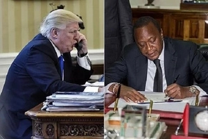 "Finally, Donald Trump calls African leaders — but ""forgets"" Uhuru"