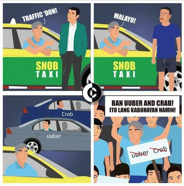 Netizen made a comic strip echoing the rants of Filipino people regarding transportation