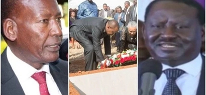 The one thing Raila and Uhuru shared during Nkaissery's burial and it's encouraging