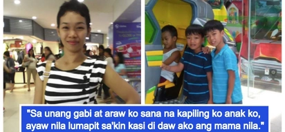 Dinuraan at sinampal ng alaga abroad tapos ganito pa pag-uwi! OFW returns home to find her two sons don't know her anymore