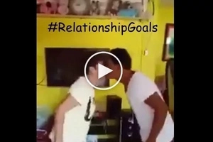 Couple Shows off cute version of Pak Ganern