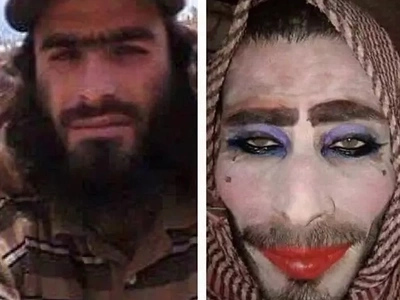 ISIS man captured while trying to escape Mosul after he disguised himself as woman but forgot to shave beards