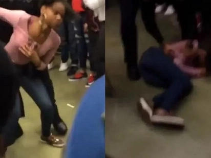 Police Officer Slams Teenage Girl Like A Pro Wrestler