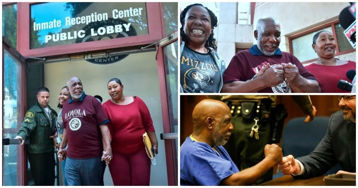 Man, 62, released after being wrongly jailed for 32 YEARS, says he is not angry (photos, video)